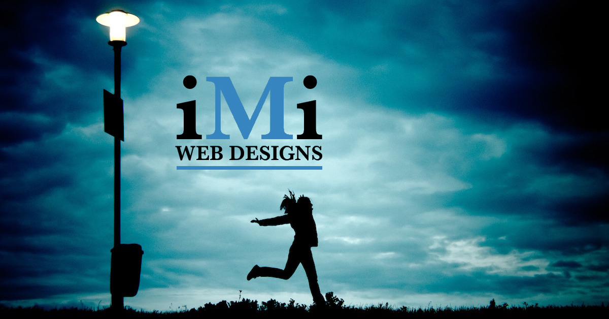 girl jumping into freedom iMi Web Design Logo